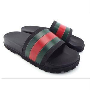 Gucci Shoes - [Sold] GUCCI Signature Web Logo Sandals 9UK/10US